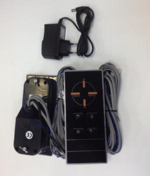 Пульт управления (черный) с блоком питания (трансформатором) для душевой кабины