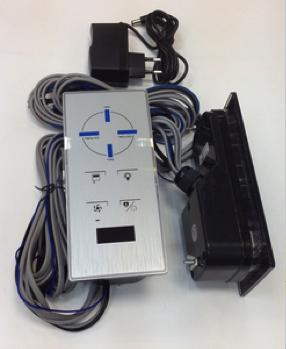 Пульт управления (серебристый) с блоком питания (трансформатором) для душевой кабины