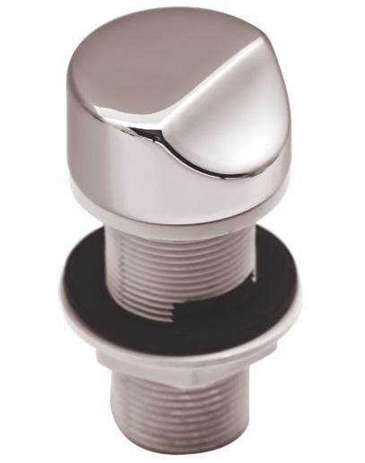 Кнопка (пневматическая) Регулятора воздуха Дюна металл, хром