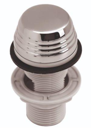 Кнопка (пневматическая) Регулятора воздуха Аква металл, хром