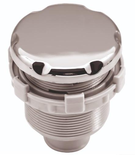Кнопка (пневматическая) Регулятора воздуха Аква-Джет пластик, хром