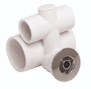 Джета гидро (форсунка) Евромик FLAT пластик, хром
