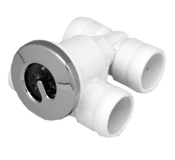 Джета гидро (форсунка) Микро 20-20 ротатив пластик, хром