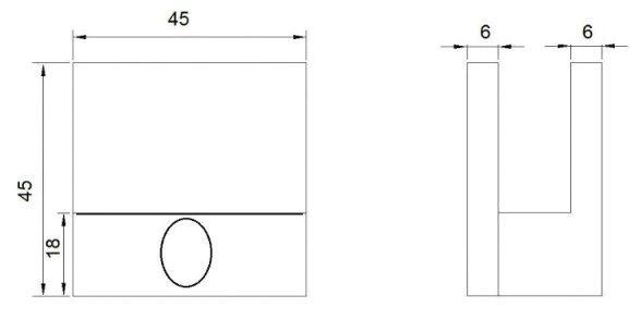 Коннектор стена-стекло для стекла 4-6 мм