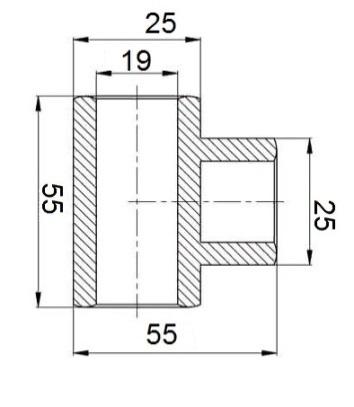 Соединитель-тройник труба-труба (арт. 0015)